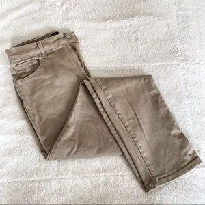 Gloria Vanderbilt Straight Leg Khaki Work Pants 6